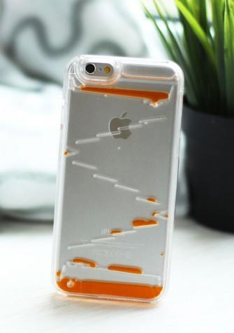 Obudowa 3D - SCHODKI - z płynem w środku - pomarańczowy