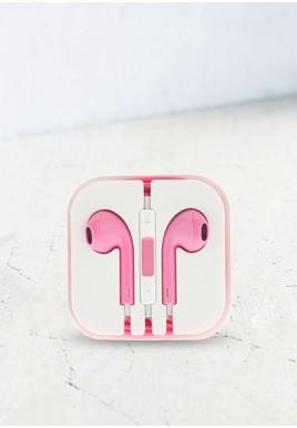 Słuchawki mini jack różowe