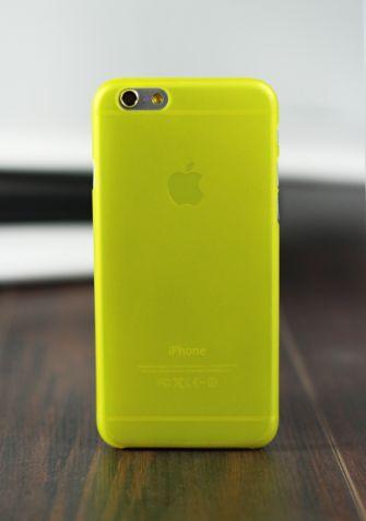 Elastyczne etui PASTEL SLIM żółty