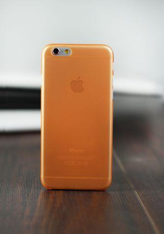 Elastyczne etui PASTEL SLIM pomarańczowy