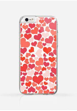Obudowa RED HEARTS PATTERN