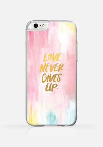 Obudowa LOVE NEVER GIVES UP