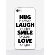 Obudowa HUG LAUGH SMILE LOVE