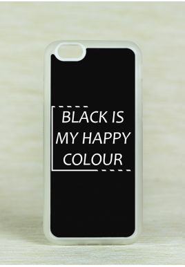 Obudowa Miękka BLACK IS MY HAPPY COLOUR