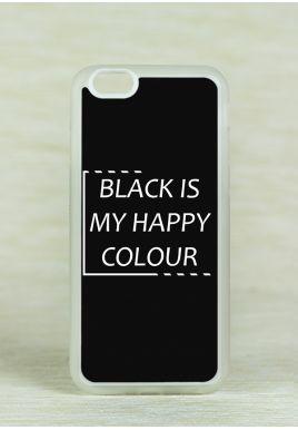 Obudowa Miękka BLACK IS MY HAPPY COLOUR