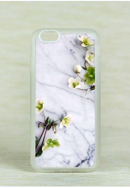 Obudowa Miękka MARBLE WITH FLOWER