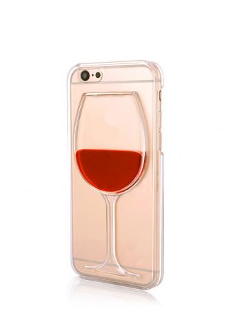 Obudowa 3D - kieliszek wina - z płynem w środku