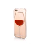 Obudowa 3D - kieliszek wina - z płynem w środku - iPhone