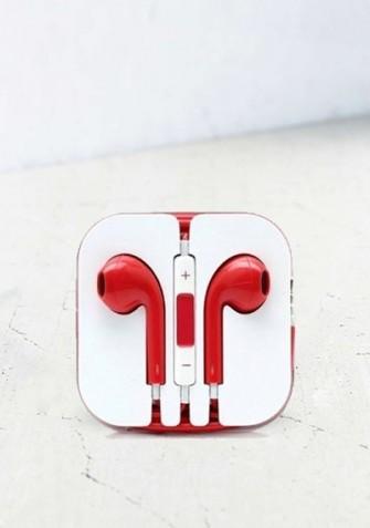 Słuchawki mini jack czerwony