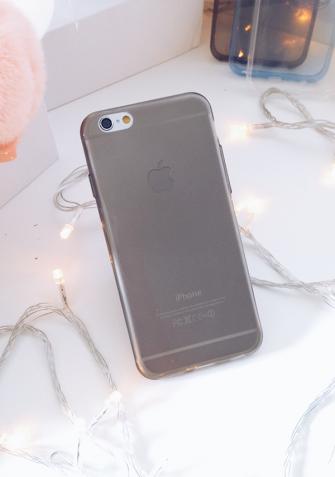 Miękki Back Case iPhone czarny