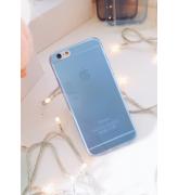 Miękki Back Case iPhone niebieski