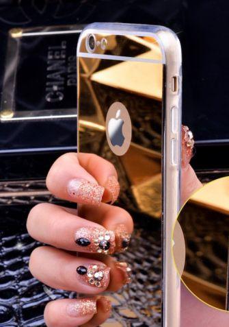 Elastyczny Mirror Case iPhone - Złoty