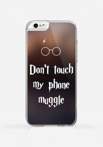 Obudowa DON'T TOUCH MY PHONE MUGGLE