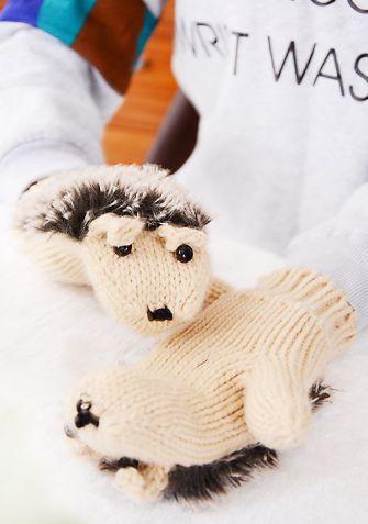 Rękawiczki Jeżyki - beżowy
