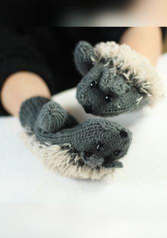 Rękawiczki Jeżyki - szary