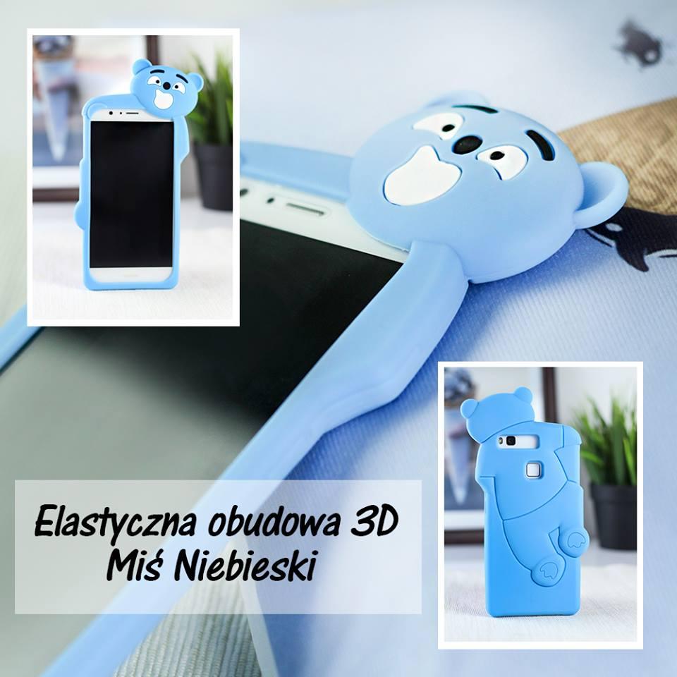 Elastyczna obudowa 3D niebieski miś