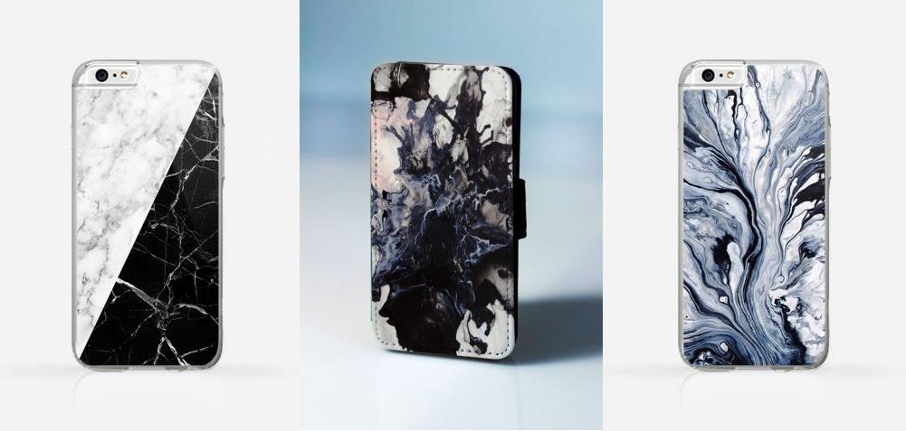 marble back case