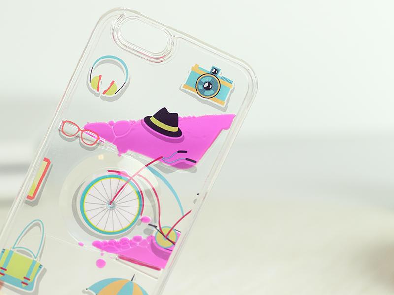 obudowa z płynem rowerek