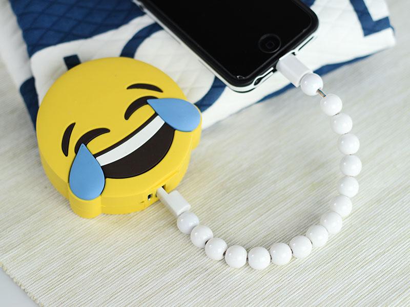 emoji laugh power bank