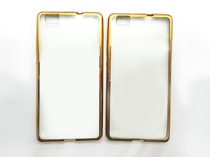 huawei clear case bumper gold