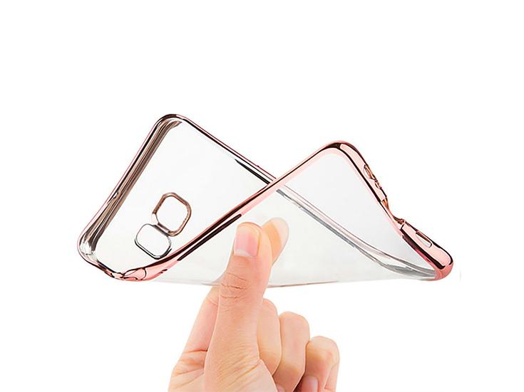 clear case różowy bumper samsung elastyczny