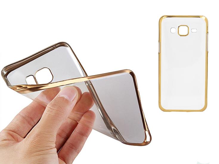 samsung clear case złoty elastyczny